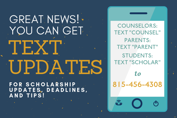 Sign up for CFNIL Scholarship text updates